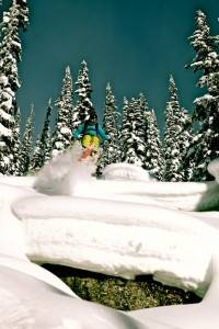 Deep powder skiing Revelstoke