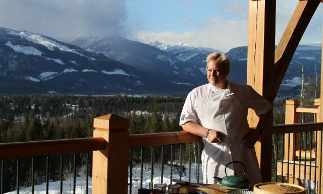 Gourmet heliski cuisine at Bighorn